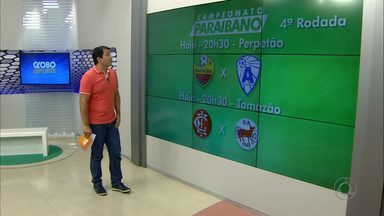 Confira os jogos da quarta rodada do Campeonato Paraibano - Quatro jogos serão realizados nesta quarta-feira: Botafogo x CSP, Inter x Serrano, Campinense x Auto Esporte e Paraíba x Atlético
