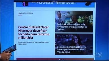 G1 Goiás: Centro Cultural Oscar Niemeyer deve ficar fechado para reforma milionária - Segundo Agetop, obra vai começar em abril e durar até o final de 2017.