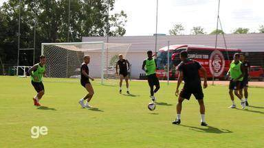 Inter faz treino com bola em resort em Viamão - Assista ao vídeo.
