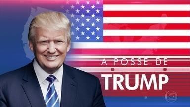 "Trump é oficialmente presidente dos Estados Unidos - Após o juramento ele discursou: ""Compre dos americanos; empregue americanos""."