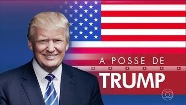 Presidente Trump cria Dia Nacional do Patriotismo - Posse de Trump teve manifestações de apoiadores e opositores.