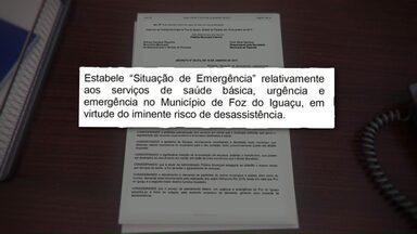 Pacientes reclamam do atendimento na UPA do Jardim das Palmeiras em Foz - Problemas da saúde fizeram que a prefeitura decretasse situação de emergência na saúde básica, urgência e emergência.