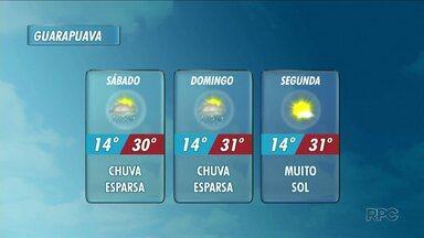 Final de semana será de calor em toda a região - A máxima pode chegar a 30 °C em Guarapuava no sábado.
