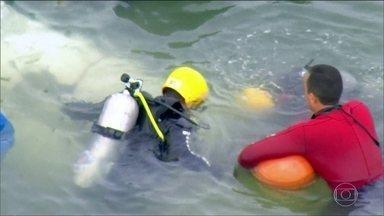 Dia foi de trabalho em Paraty para resgatar corpos das vítimas e gravador de voz do avião - O acidente aéreo matou o ministro do Supremo Tribunal Federal Teori Zavascki e outras quatro pessoas.