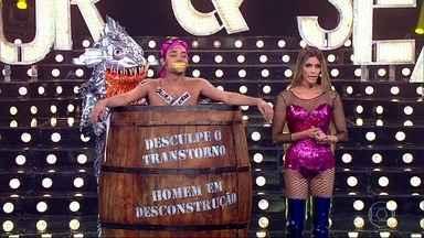 Eduardo Sterblitch participa de prova de desconstrução machista - Humorista perde rótulos no palco do programa