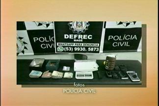 Policia apreende drogas em Bagé, RS - 1 kg de cocaína foi encontrada.