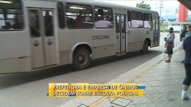 Prefeitura e empresa de ônibus decidem sobre escolta policial - Prefeitura e empresa de ônibus decidem sobre escolta policial