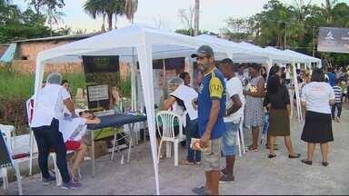 Igreja faz ação solidária para ajudar haitianos refugiados no AM - Voluntários da saúde fizeram atendimento nesta quarta (8).