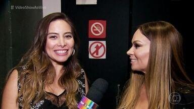 Solange Almeida estreia carreira solo - 'Vídeo Show' acompanhou show da cantora, que contou com convidados de peso!