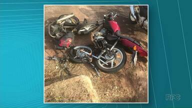 Dois motociclistas morrem em acidentes na região - Um dos acidentes foi entre dois motociclistas. Eles bateram de frente na PR-559 entre Paraíso do Norte e Mirador.