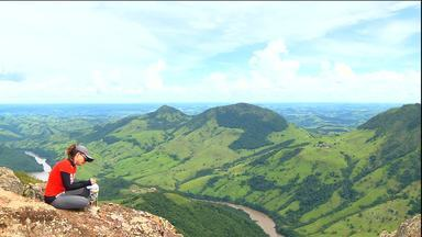 Eu Atleta Verão se despede no alto do Pico Agudo, em Sapopema - Parada obrigatória no norte paranaense, maior montanha da região, que seduz pelas lindas paisagens do Vale do Tibagi