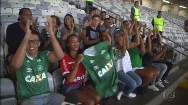 Vira casaca: torcedores do Atlético-MG e Joinville vestem a camisa da Chapecoense - Torcedores do Atlético-MG e Joinville vão ao Mineirão torcer para a Chapecoense em jogo contra o Cruzeiro