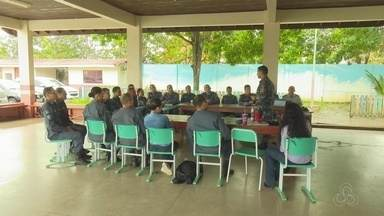 Policiais que irão atuar no ensino militar no Amapá participam de trainamentos - Eles vão trabalhar na orientação dos alunos e ajudar a prevenir a violência.