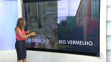 BATV flagra cenas de desperdício de água em Salvador - Situações foram registradas no fim da tarde desta sexta (10).