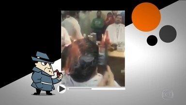 Detetive Virtual investiga homem que usa fogo para cortar cabelos - O Detetive Virtual desta semana é quente. Um vídeo postado na internet tem levantando polêmica. Um cabeleireiro ateia fogo na cabeça dos clientes na hora de fazer o corte. Mas será que o show pirotécnico nos fios é real?