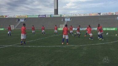 Time do Princesa faz treino antes de duelo contra Internacional de Porto Alegre - Jogo será na cidade de Cascavel, no Paraná.