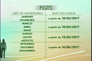 Divulgadas as datas de saque dos fundos inativos do FGTS, Bagé, RS - As datas variam de acordo com o mês de nascimento.
