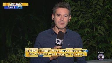Afetados pela chuva em Joinville têm até está sexta-feira (17) para retirar kit de ajuda - Afetados pela chuva em Joinville têm até está sexta-feira (17) para retirar kit de ajuda
