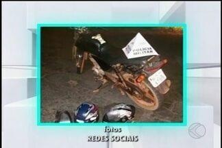 Grupo é preso suspeito de assaltos em Itaúna - Foram apreendidas peças, motocicleta, celulares e arma de fogo.
