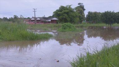 Cheia do rio Machado e Riozinho faz moradores desocuparem casas - Em Cacoal e no distrito de Riozinho moradores foram pegos de surpresa.