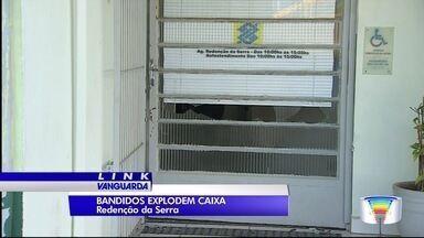 Criminosos explodem caixa eletrônico em Redenção da Serra - Essa foi a segunda vez em pouco mais de seis meses.