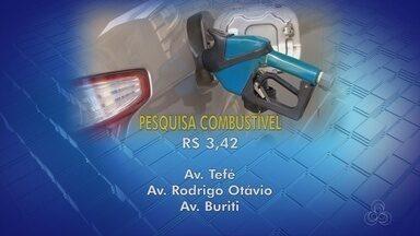 Preço médio da gasolina aumenta em Manaus - Aumento foi de 20 centavos, segundo Procon.
