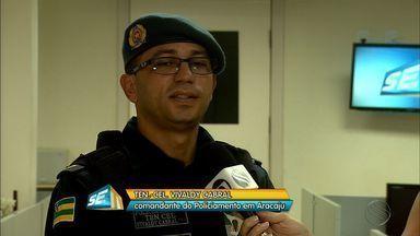 Coronel Vivaldy Cabral conversa sobre a presença da Força Nacional em Aracaju - Coronel Vivaldy Cabral conversa sobre a presença da Força Nacional em Aracaju.