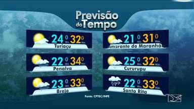 Veja a previsão do tempo no Maranhão - A sexta-feira (24) que antecede o carnaval será de tempo instável com chuva na maioria das regiões.
