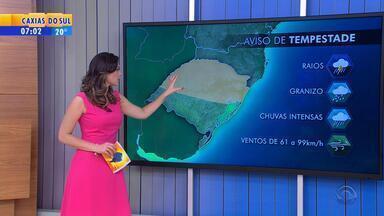 Tempo: março tem alerta de tempestade no Norte do RS - Na metade Sul, chuva é isolada.