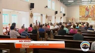 Católicos começam penintências na quarta-feira de cinzas - Entre as promessas estão deixar de comer carne