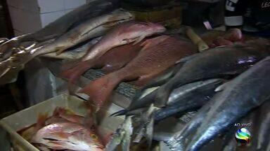 Tradição de comer peixe na Quaresma aumenta movimento no mercado - Tradição de comer peixe na Quaresma aumenta movimento no mercado.