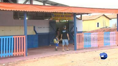 Anexo da Escola Municipal Aldo Ferreira iniciou atividades escolares no Residencial Salvaç - Estrutura foi montada para atender crianças a partir de 4 anos.