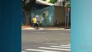 Polícia diz ter identificado homem que agrediu guarda municipal - Agressão foi registrada em vídeo; autor pode pegar até 6 anos de prisão