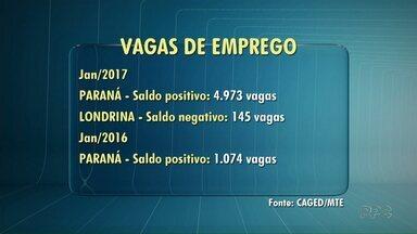 Londrina fecha mais postos de trabalho em janeiro de 2017 - A cidade vai na contramão do Estado. Foram 145 postos de trabalho a menos, comparado com o mesmo período do ano passado.