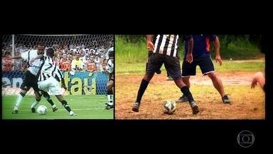Torcedores do Santos recriam gol de Robinho contra o Corinthians, em 2002 - Torcedores do Santos recriam gol de Robinho contra o Corinthians, em 2002