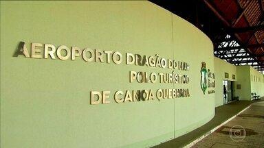 Obras importantes e caras estão abandonadas no Ceará - O repórter Alessandro Torres mostra a situação da modernização do Aeroporto Internacional de Fortaleza e um outro aeroporto, que apesar de pronto, não recebe avião comercial.