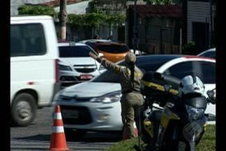 Rotatória no bairro do Marco tem mudança de trânsito - Trânsito no cruzamento entre avs. João Paulo II, Dr. Freitas e Perimetral muda a partir sábado, 4.