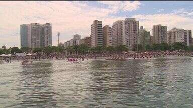 Título da 'Volta da Ilha do Santo Amaro' foi disputado em Santos - Os atletas remaram 75 quilômetros em meio a lindas paisagens.
