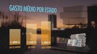 Levantamento mostra que senadores e deputados de SC gastaram mais de R$7 mi em 2016 - Levantamento mostra que senadores e deputados de SC gastaram mais de R$7 mi em 2016