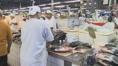 Comerciantes apontam aumento na venda de peixes, em Manaus - Aumento do consumo de peixes ocorre por conta da quaresma.