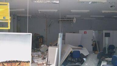 Criminosos explodem cofre de agência bancária em Nova Resende, MG - Criminosos explodem cofre de agência bancária em Nova Resende, MG