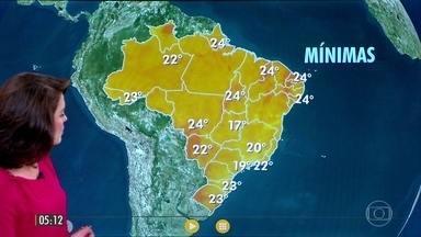 Confira a previsão do tempo para a quinta-feira (9) - Veja como fica o tempo em todo país.