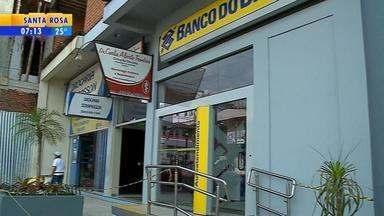 Agências bancárias são alvos de assaltantes em Fontoura Xavier - Criminosos assaltaram as agências do Banco do Brasil e Banrisul da cidade.