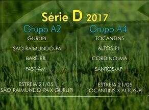 CBF divulga tabela da Série D 2017; confira os grupos dos times tocantinenses - CBF divulga tabela da Série D 2017; confira os grupos dos times tocantinenses