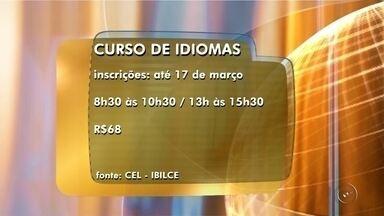 Ibilce de Rio Preto abre inscrições para cursos de idioma - O Centro de Línguas do Ibilce de São José do Rio Preto (SP) está com inscrições abertas para cursos de inglês, francês, espanhol e italiano. As aulas começam na próxima quarta-feira (22) e as inscrições podem ser feitas até sexta-feira (17), no prédio do Ibilce, das 8h30 às 10h30 e das 13h às 15h30, no valor de R$68.