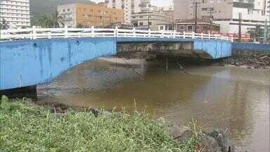 Três pontes estão com problemas de estrutura em Mongaguá - Pontes ficam no Centro da Cidade.