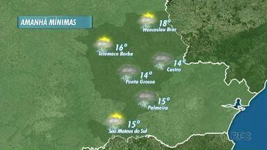 Quinta-feira será chuvosa nos Campos Gerais - Tempo só deve mudar a partir da próxima semana