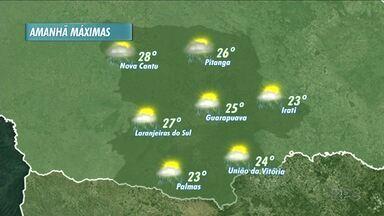 O tempo continua instável neste domingo - A previsão é de céu encoberto e temperaturas mais amenas no período da manhã.