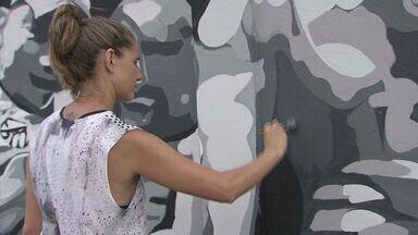 Muro do CT Rei Pelé ganha novo visual - Artista plástico Paulo Consentino está dando uma repaginada no muro do centro de treinamentos do Santos.