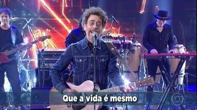 Nando Reis canta 'Por onde andei' - Rodrigo Simas, Vanessa Gerbelli, Giullia Buscacio e Ricardo Pereira participam do quadro 'Ding Song'